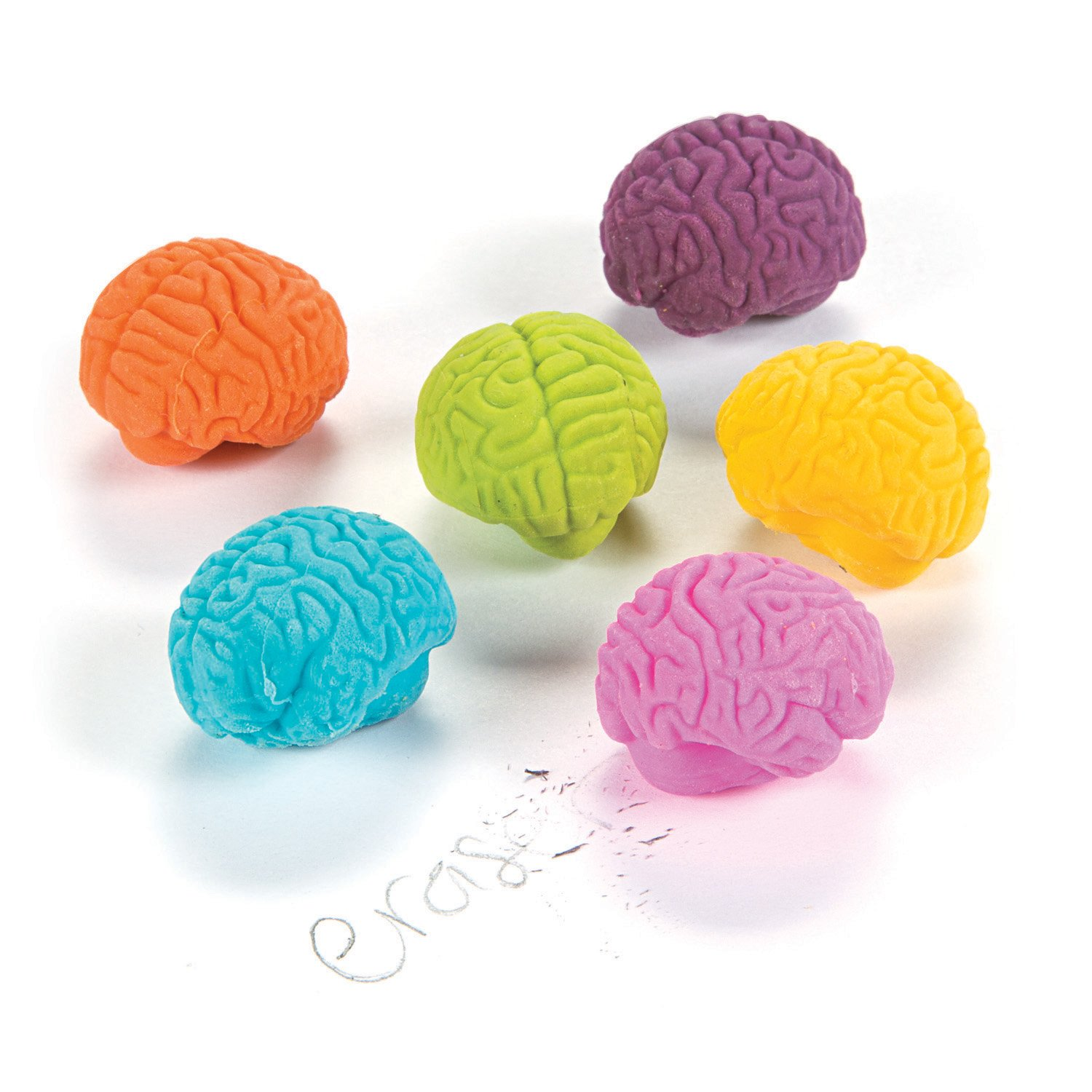 Fun365 Brain-Shaped Erasers