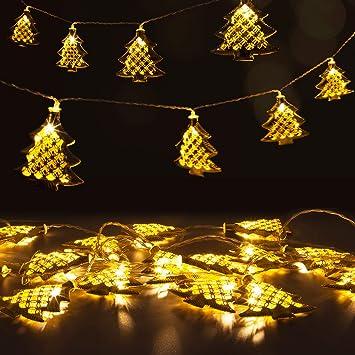 Christmas Fairy String Light 20 LED Gold Metal Christmas Tree Shape Lights  USB Powered for Indoor - Amazon.com : Christmas Fairy String Light 20 LED Gold Metal