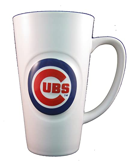 Amazon.com   Chicago Cubs 16 oz White Ceramic Latte Coffee Mug ... 5632fdab0f44