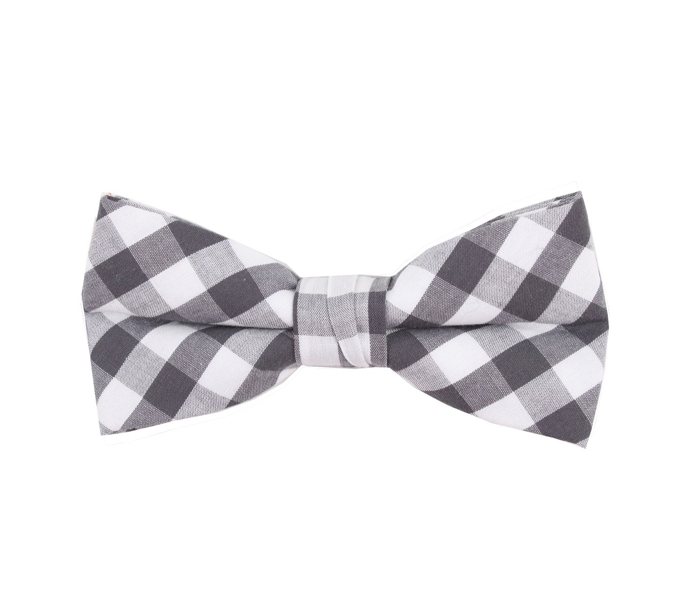 Born to Love - Boys Kids Pre Tied Bowtie Christmas Holiday Party Dress Up Bow Tie (Medium, Gray White Checkered)