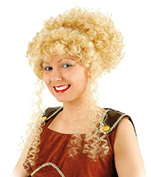 Narrenkiste O30824 A Blond Damen Griechin Perucke Hochsteckfrisur