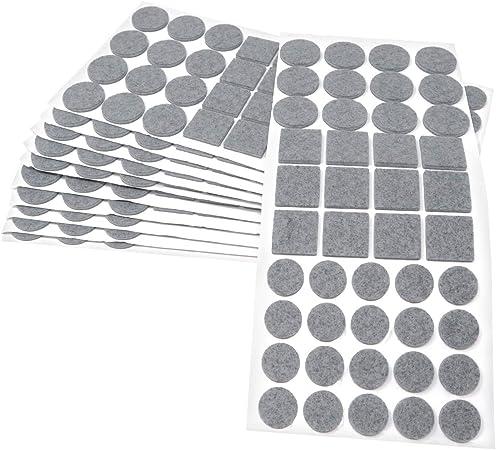 de Adsamm/® 3,5 mm 220 pi/èces patins en feutre Patins de meubles qualit/é top Blanc