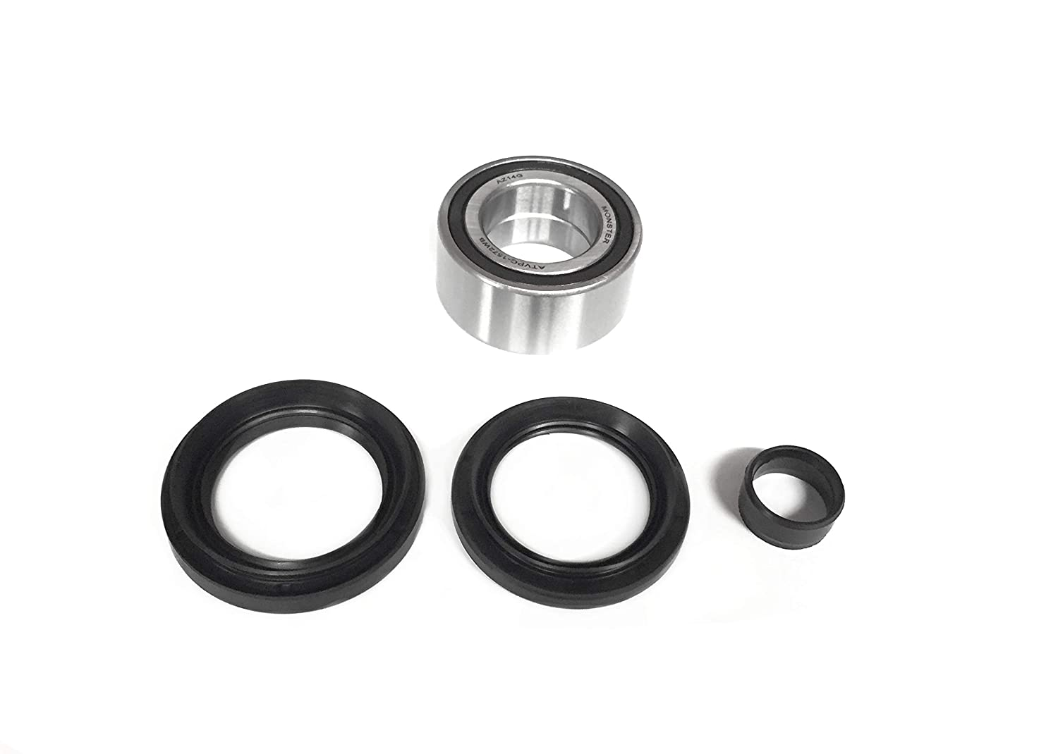 ATV Parts Connection Front Wheel Bearing /& Seal Kit for Honda Rubicon 500 Foreman 500 /& Rincon 680 4x4 ATV