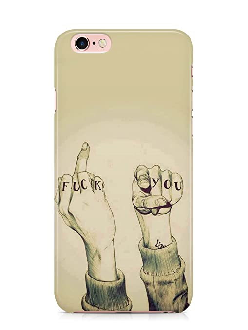 new concept 585b1 6d2e9 iPhone 6s / iPhone 6 Designer Fuck You Print Back Case: Amazon.in ...