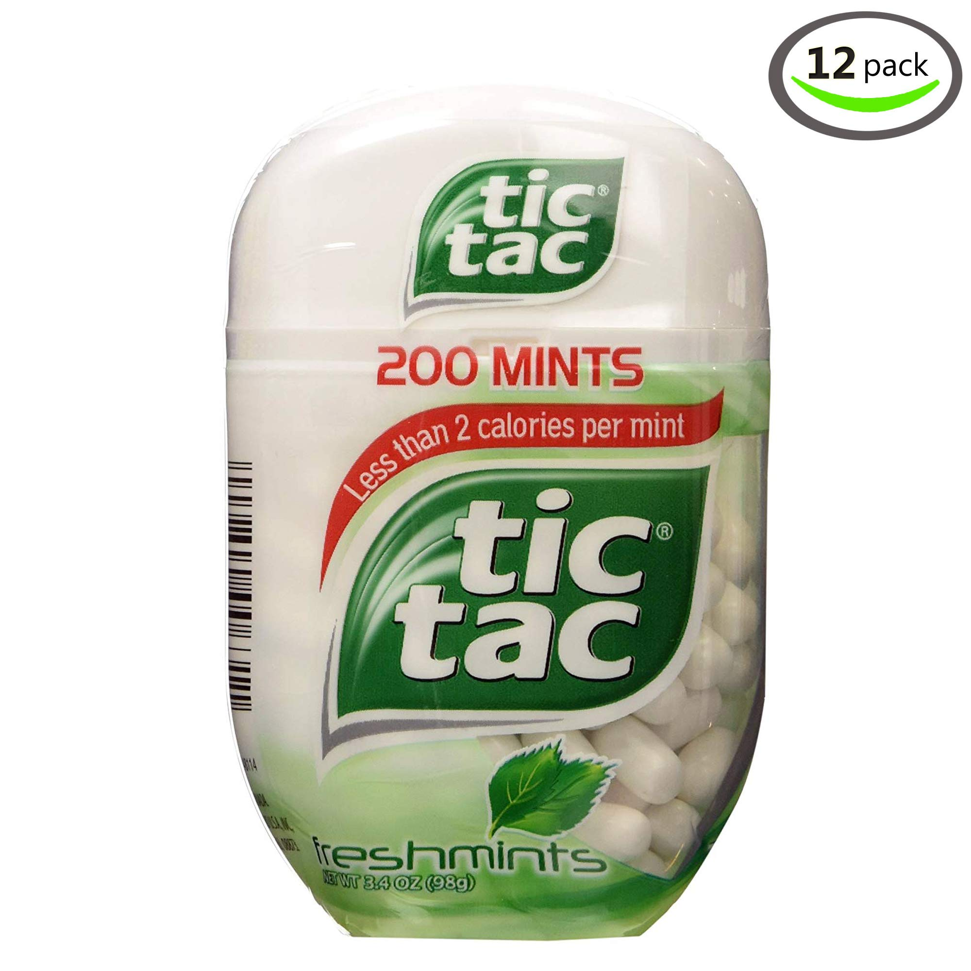 Tic Tac Fresh Mint Bottle 3.4 oz - Pack of 12 by Tic Tac