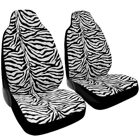 Zebra Animal Print Seat Cover 2 Pcs