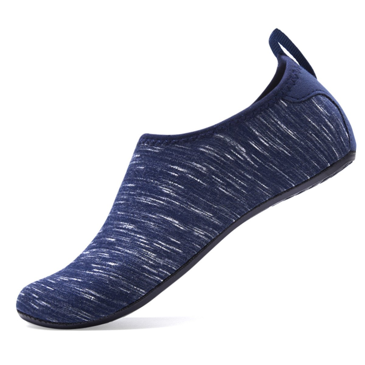 Water Shoes for Womens and Mens Summer Barefoot Shoes Quick Dry Aqua Socks for Beach Swim Yoga Exercise B07CZW522N XL (Women:10.5-11.5/Men:9-9.5)|Waves/Dark Blue
