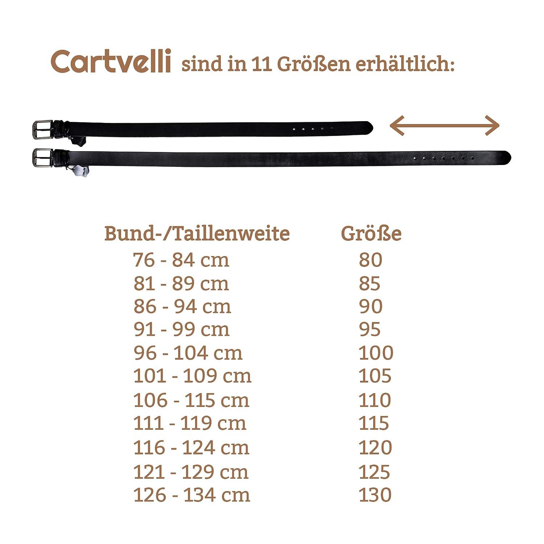 Made in Germany Cartvelli Premium Echt Lederg/ürtel Herren mit Geschenk Box Bundweite 80-130cm Neuerscheinung 2019 Breite 3,8 cm 100/% Rindsleder