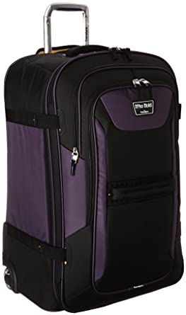 "dac80492a Travelpro Bold 28"" Expandable Rollaboard, Large Checked Luggage,  Purple/Black"