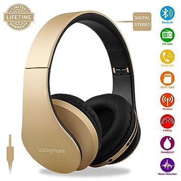 Bluetooth Casque Sans Fil Over Ear Ecouteurs Avec Microphone Anti