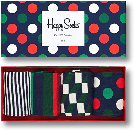 Happy Socks Stripe Gift Box Calcetines (Pack de 4) para Mujer ...