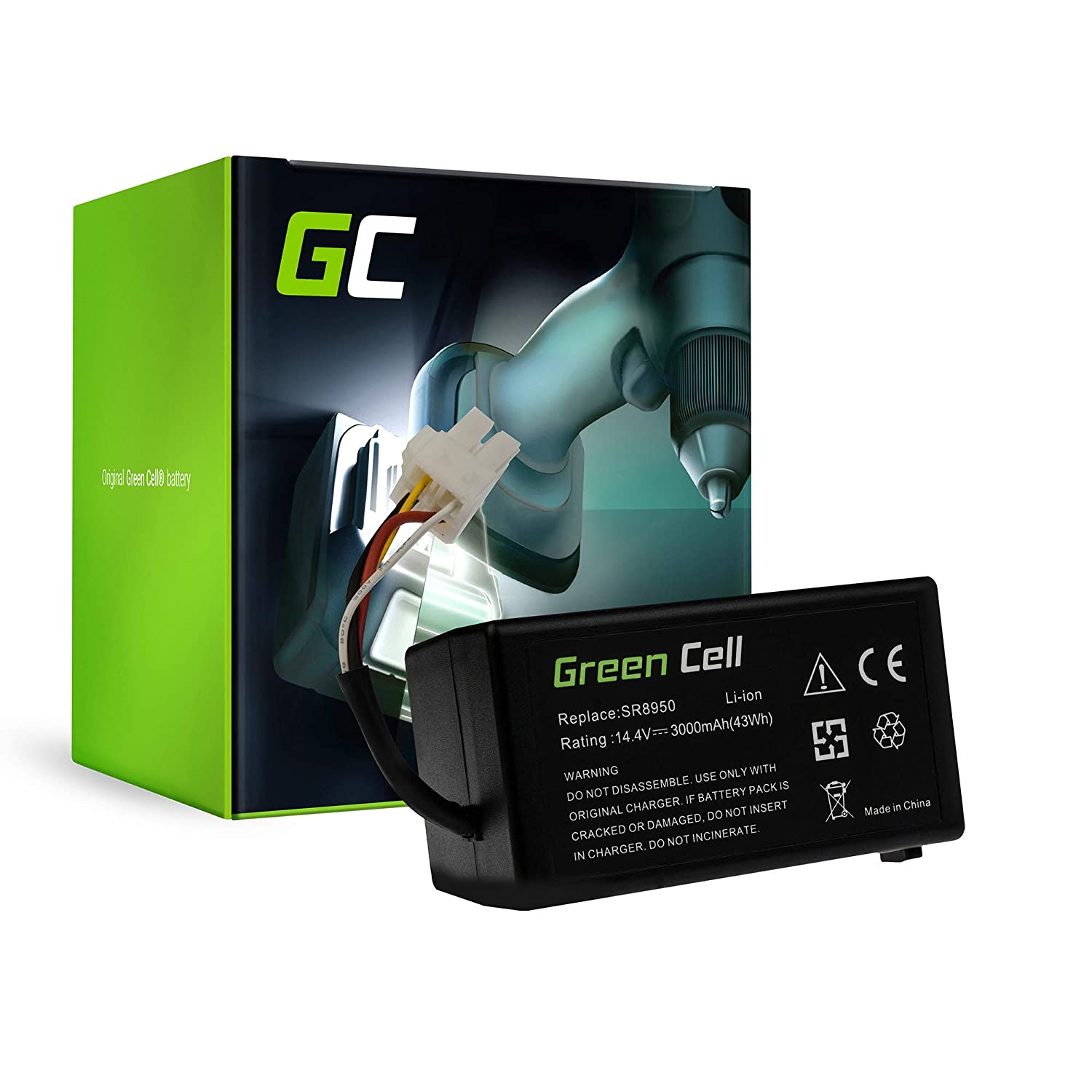 Green Cell® Aspirapolvere Batteria per Samsung NaviBot S SR8940 (Li-Ion pile 3 Ah 14.4V) Green Cell PRO PT163_IT_4