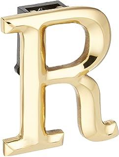 Monogram Letter R Door Knocker   Brass