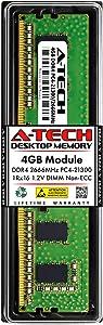 A-Tech 4GB Memory RAM for Dell Inspiron 3470 SFF - DDR4 2666MHz PC4-21300 Non ECC DIMM 1Rx16 1.2V - Single Desktop Upgrade Module (Replacement for AA086414)