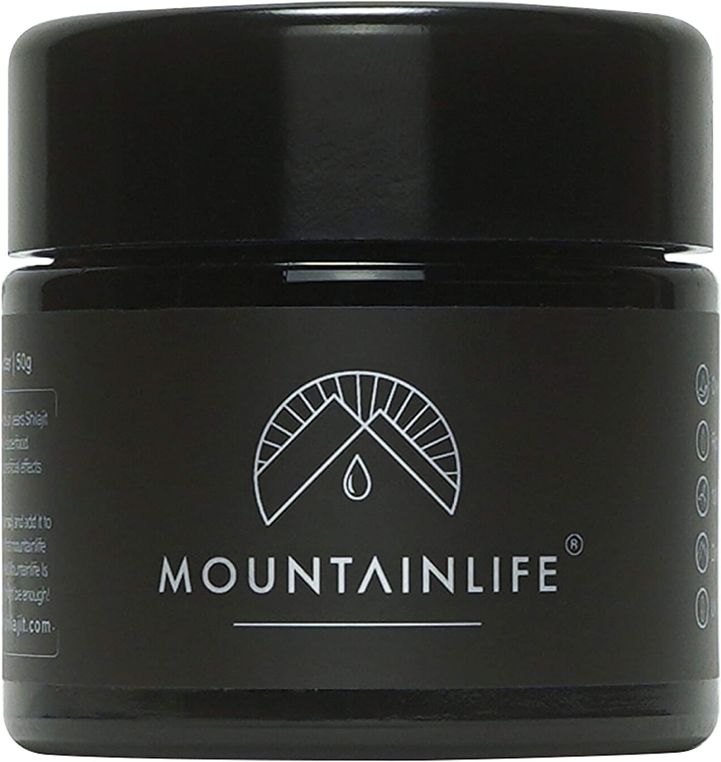 Mountainlife Natural Shilajit Resin | UK Lab Tested | 100g - 10 Month Supply | Vegan Accredited | Herbal & Mineral Superfood | Miron UV Protected | Rich in Fulvic & Amino Acids, Minerals, Vitamins