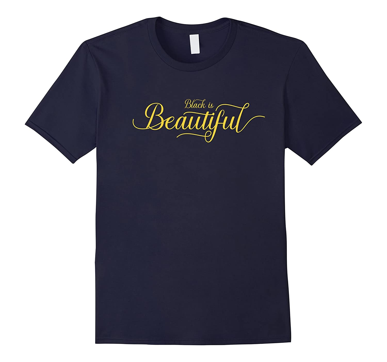 Black is Beautiful Black Pride Typography Logo T-shirt-CD