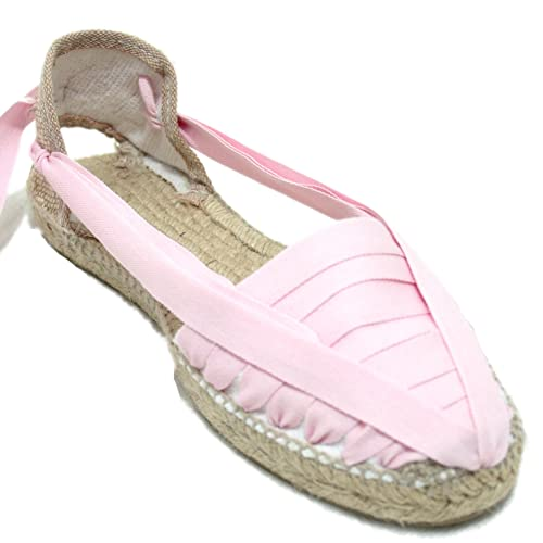 Alpargata Diseño Pintxo o Siete Vetas Rosa Claro: Amazon.es: Zapatos y complementos
