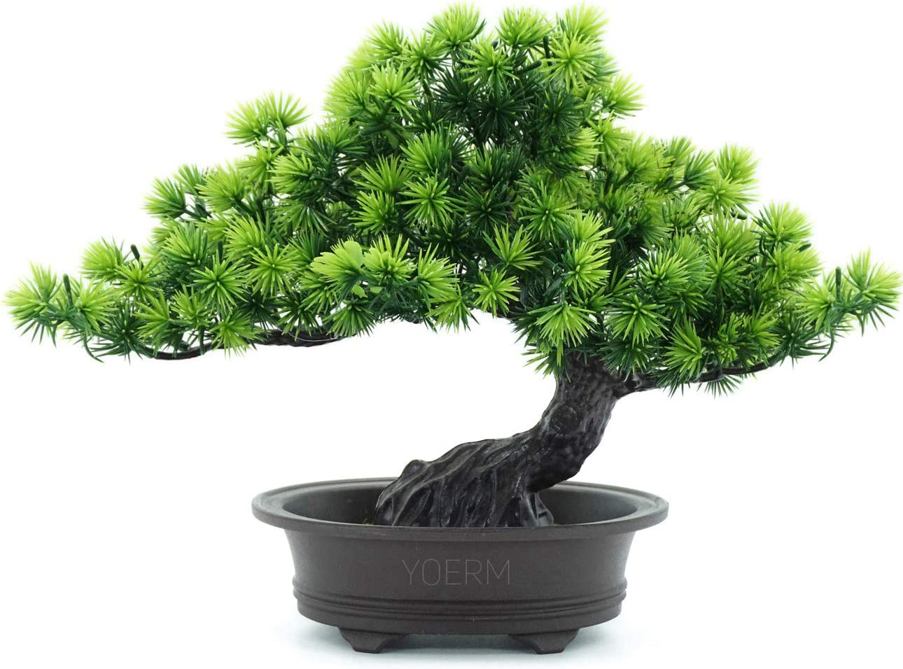 "yoerm Artificial Japanese Juniper Bonsai Tree Height 9.5"" for Home Office Indoor Decor"