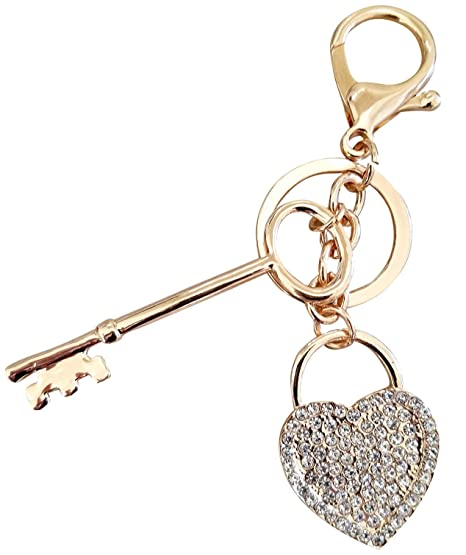 AM Landen Women s Key Chain Rhinestone Heart Key Keychain Bling Key Rings  Handbag Charm Purse Charm f8075dd109