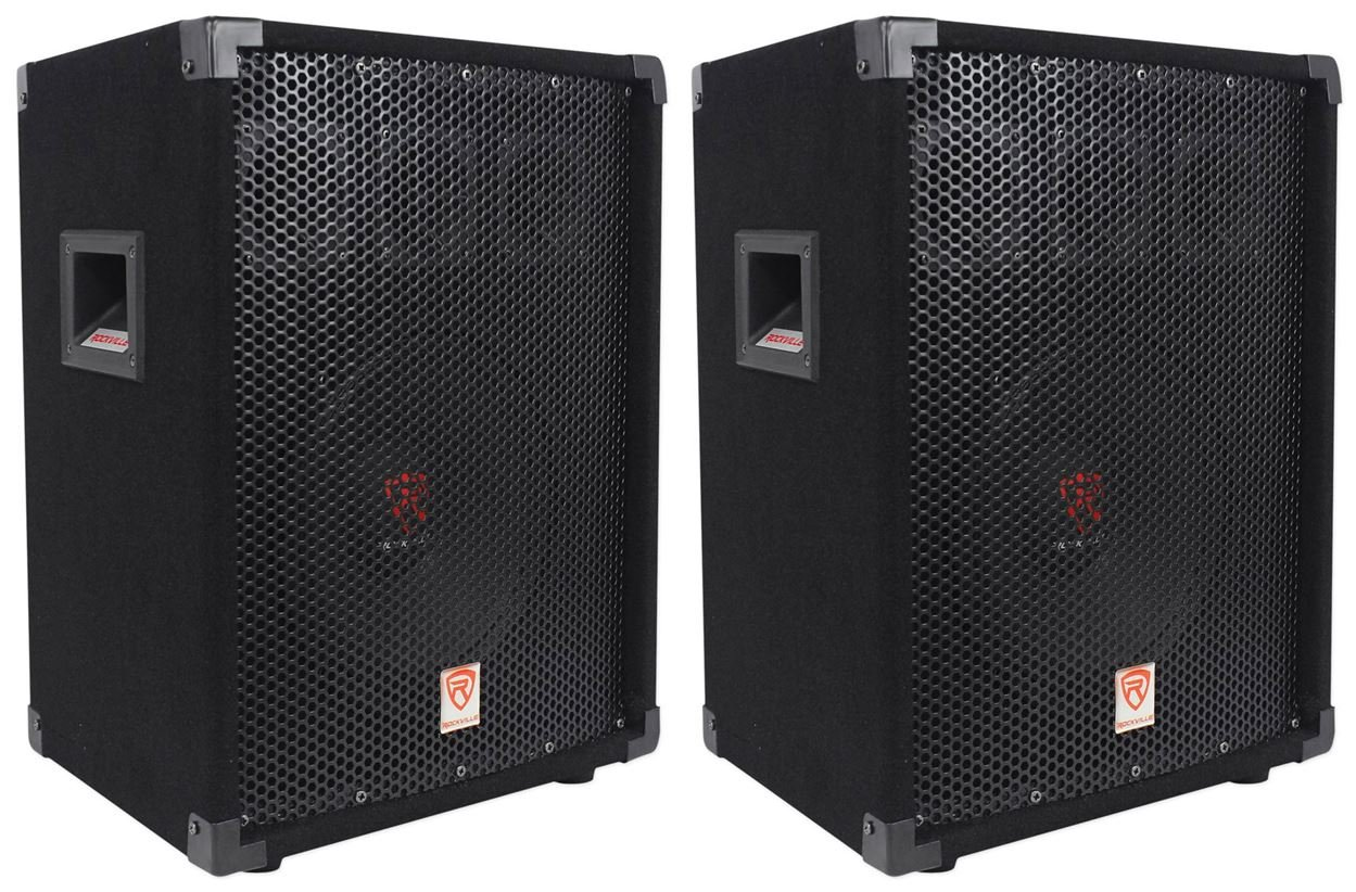 (2) Rockville RSG10 10 400 Watt 2-Way 8-Ohm Passive DJ/Pro Audio PA Speaker (2) RSG10