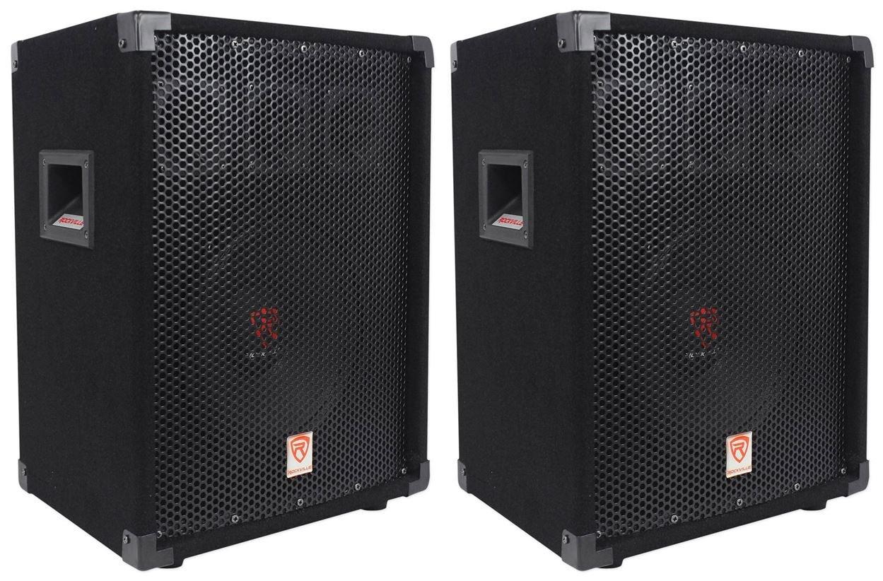 "(2) Rockville RSG10 10"" 400 Watt 2-Way 8-Ohm Passive DJ/Pro Audio PA Speaker"