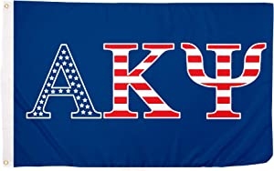 Alpha Kappa Psi USA Letter Fraternity Flag Greek Banner 3 feet x 5 feet Sign Decor AKPsi (Flag - USA)
