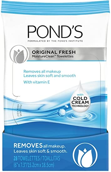 Ponds Moisture Clean Towelettes Original Fresh 28 ct