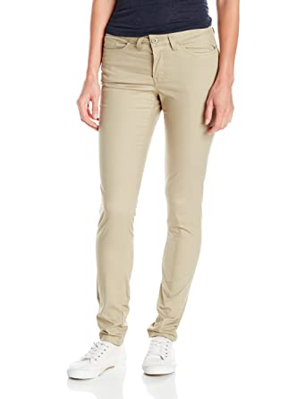 24ccd48ae44 Dickies Women s 5-Pocket Slim Skinny Stretch Twill Pant at Amazon Women s  Clothing store