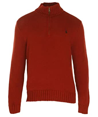 Polo Ralph Lauren Mens Cotton 1/2 Zip Pullover Sweater at Amazon Men\u0027s  Clothing store: