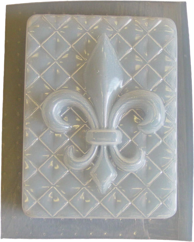 Fleur de lis plaque mold plaster concrete mould