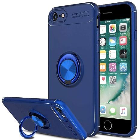 SORAKA Funda iPhone 7, Funda iPhone 8,Soporte rotación de 360 Grados, Carcasa de TPU Delgada y Compatible con Soporte magnético para Coche