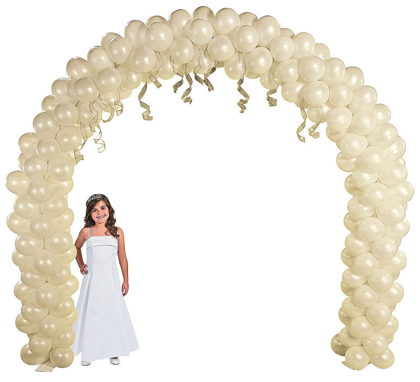 Balloon Frame - Arch (8 Ft. X 9 Ft.) 100 Balloons to Fill Arch. Weddings, Proms, Bat- Mitzvah, Birthday Party by Fun Express