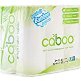 Caboo Natural Bamboo Paper Towels, Earth Friendly Biodegradable Kitchen Paper Towels with Strong 2 Ply Sheets, 115 Sheets Per Roll, 6 Rolls