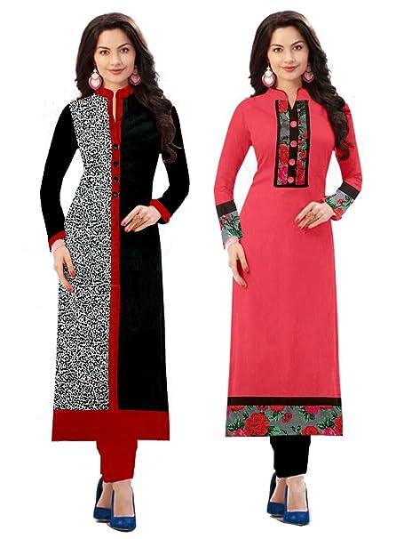 aab67034897 Platinum Women s Cotton Blend Material Pack Of 2 Kurti (Plt  1702 Multicolor Free Size