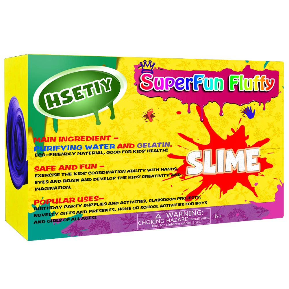 HSETIY DIY Slime kit Supplies-6 Cloud Slime,6 Clear Slime,3 Jelly Cube,5 Unicorn,55 Glitter,4 Magic Clay with DIY Slime Tool and Slime Box AD17167