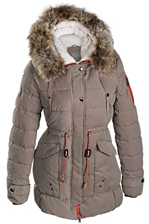 wholesale dealer 27a55 34121 Winter Damen Mantel Jacke Fell 2 in 1 Kapuze STEPP DAUNEN Parka LANG Pelz  Alaska SML XL XXL