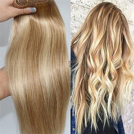 Human Remy Hair Bundle Extension Biondo Miele E Caramello