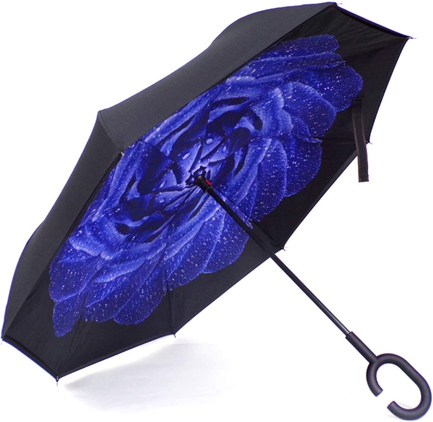 High Grade Double Layer Car Reverse Umbrellas Women Windproof Uv Protection Design Custom Logo Umbrella,Style 02