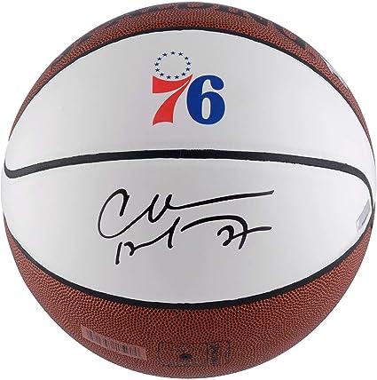 eee7cb874912 Charles Barkley Philadelphia 76ers Autographed Throwback Logo White Panel  Basketball - Panini Authentic - Fanatics Authentic