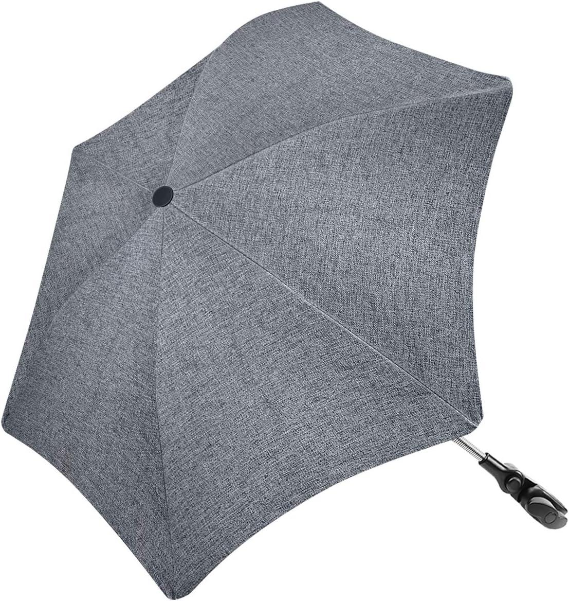 RIOGOO Ombrellone per ombrellone Forma irregolare Universale 50 passeggino UV Ombrello per protezione solare per neonati e bambini con manico a ombrello per carrozzina passeggino e passeggino