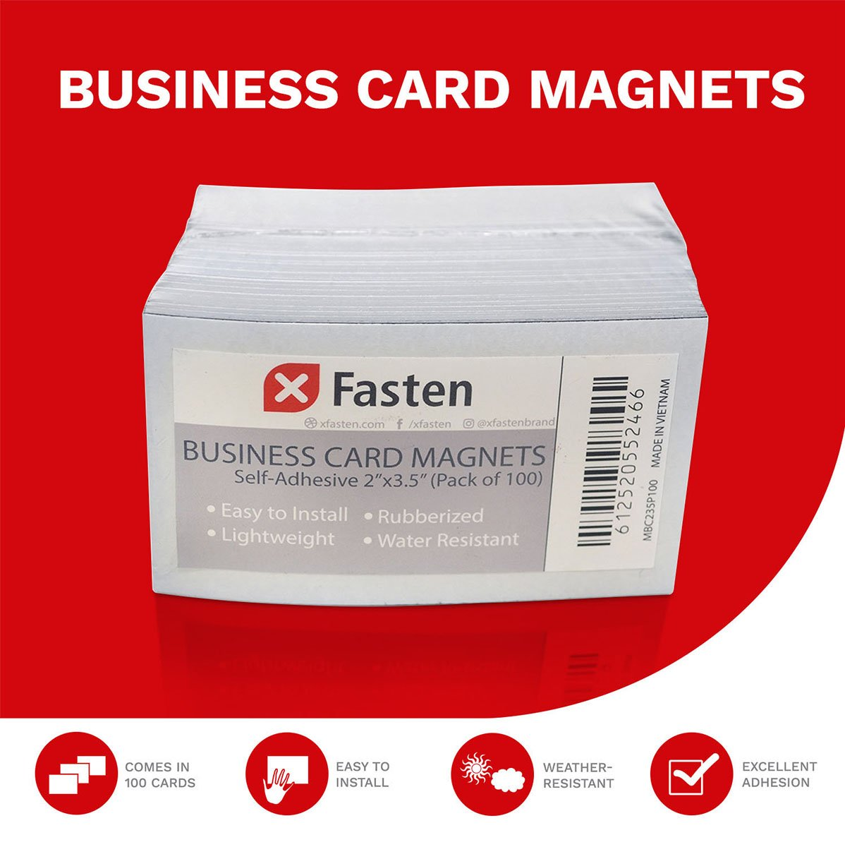 Amazon.com : XFasten Self Adhesive Business Card Magnets, Pack of ...