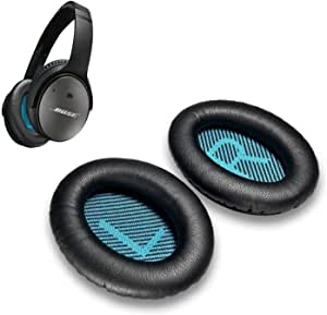 Cushions Bose Replacement Ear Pads Kit- Ear Cups for QuietComfort 2 15 25 35 QC2 QC15 QC25 QC35, AE2,AE2i, AE2w, SoundTrue, SoundLink(Around-Ear) Headphones (Black)