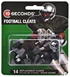 "10-Seconds 14 Replacement Football Cleats 3/4"" Black"