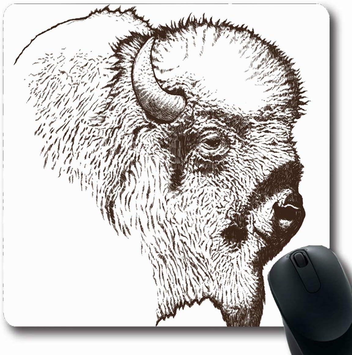 Luancrop Alfombrillas de ratón Vida Búfalo Bisonte Americano ...
