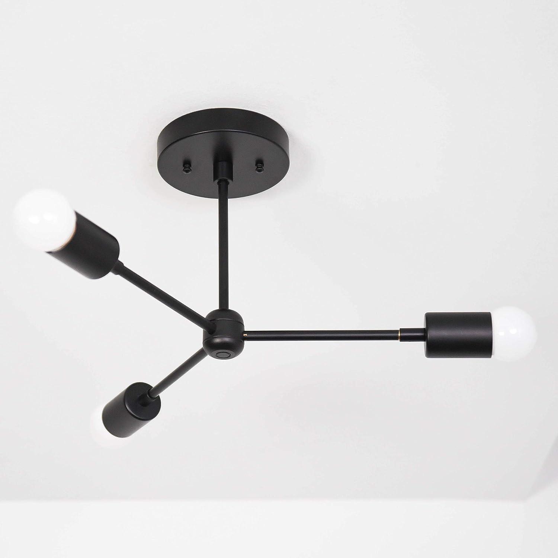 Handmade in u s a sputnik chandelier lighting fixture mid century modern inspired starburst ul listed