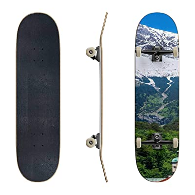 EFTOWEL Skateboards Alpen Clock Tower Mountain Stock Pictures Royalty Free Photos Classic Concave Skateboard Cool Stuff Teen Gifts Longboard Extreme Sports for Beginners and Professionals : Sports & Outdoors