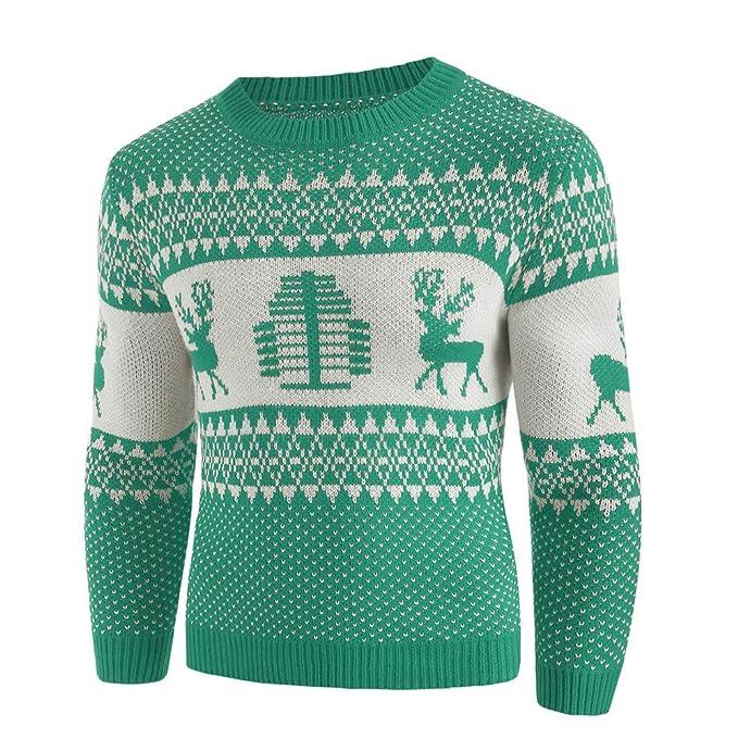 rivenditore di vendita 58a84 438b9 Maglione Uomo Invernale, feiXIANG Pullover Uomo Stampato ...