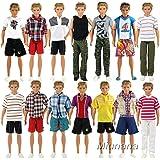 Miunana 3 Vêtements Aléatoires Tenues en Vogue Pour Poupée Ken - Fiancé de Barbie