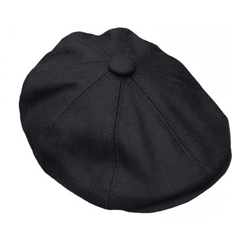 66b0e2331334b Great Horse G   H Wool Newsboy Cap - Black