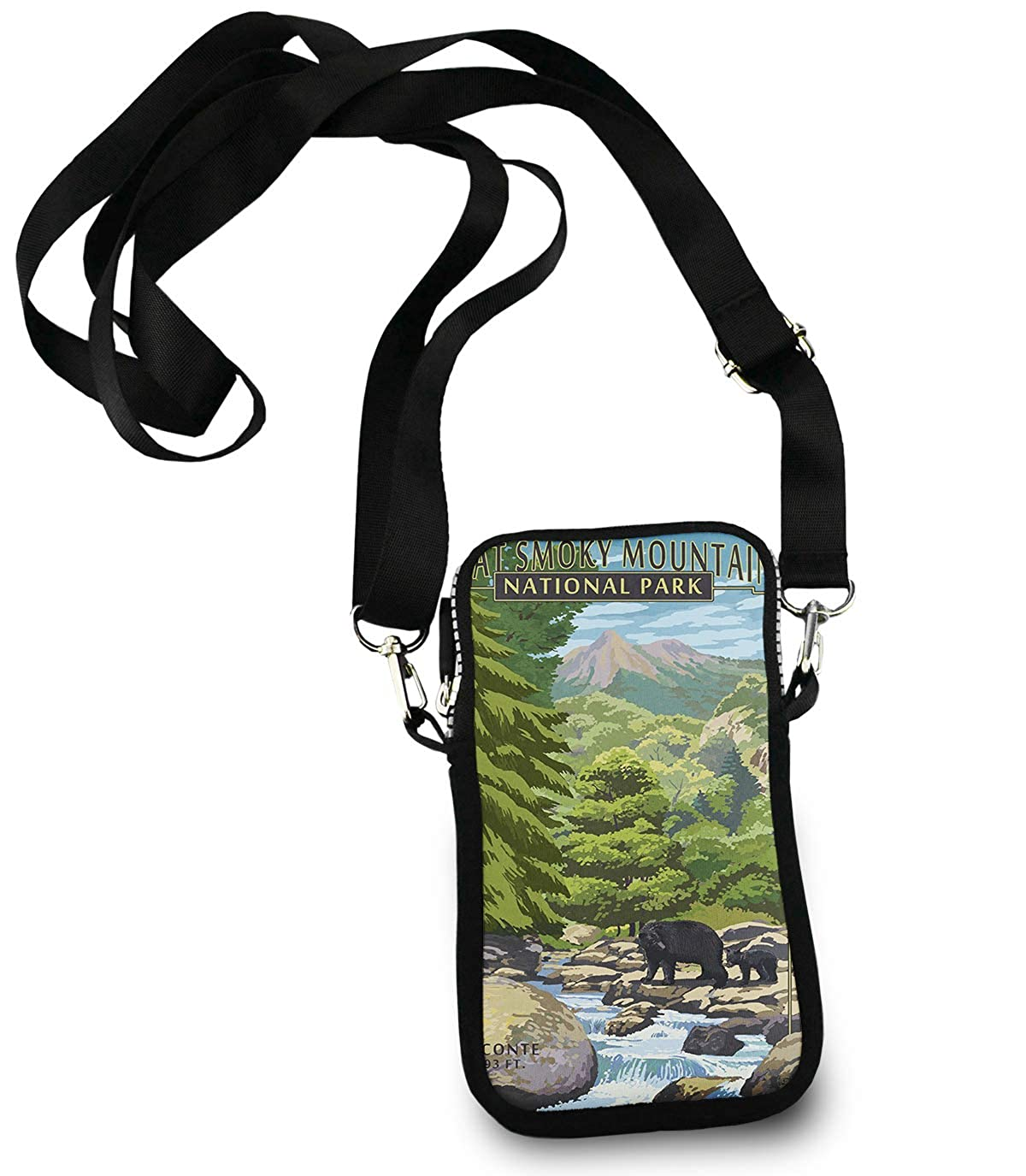 Casual Security Pack Crossbody Phone Pouch With Shoulder Strap Wallet Handbag Great Smoky Mountains National Park